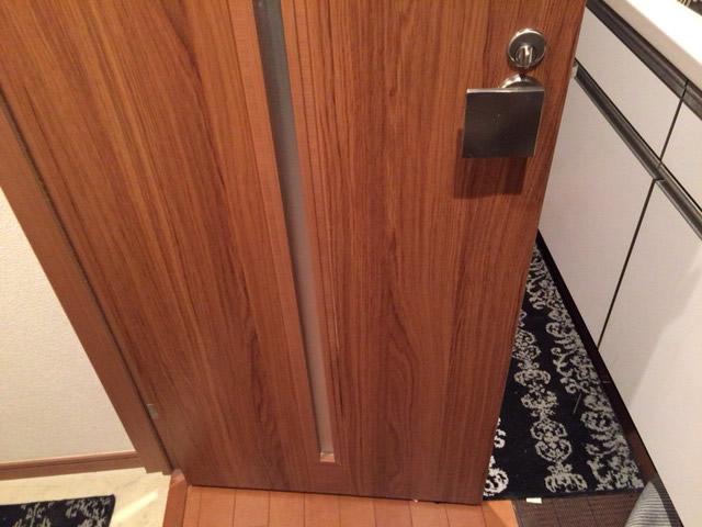 木製ドアafter
